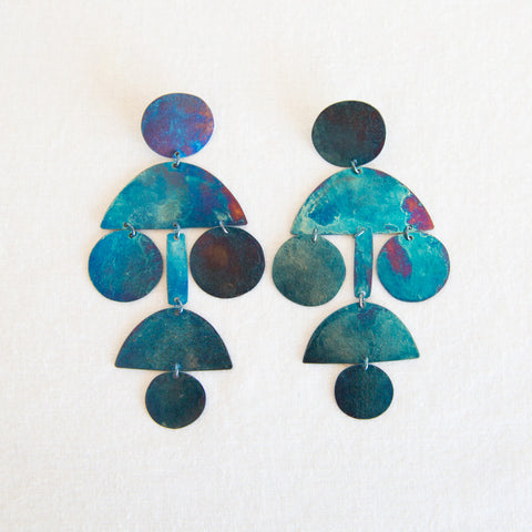 Pom Pom Earrings - Iridescent