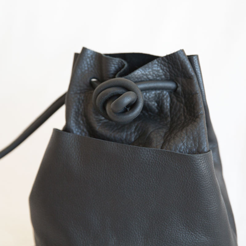 Tube Drawstring Bag - Onyx