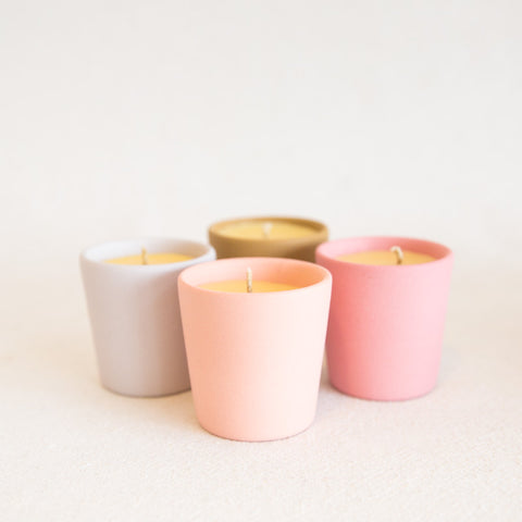 Colored Ceramic Candle