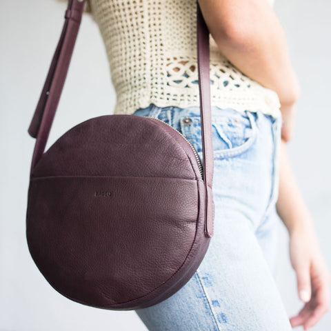 Circle Purse - Oxblood