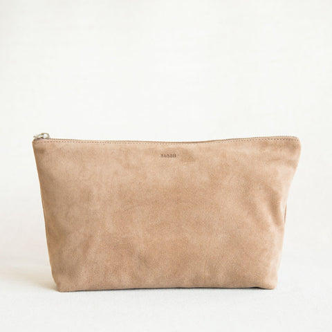 Cosmetic Pouch - Dune Suede