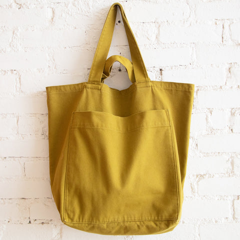 Giant Pocket Tote - Washed Olive