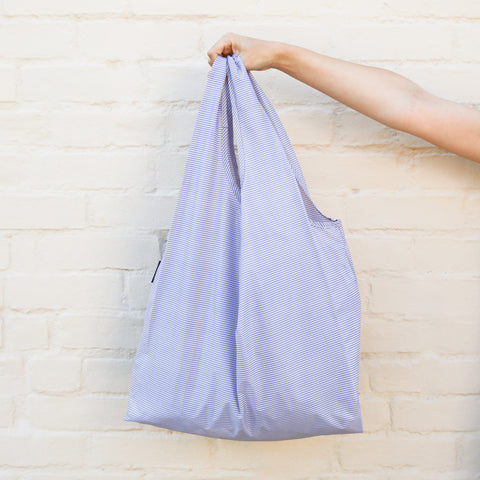 Reuseable Bag - Blue Microstripe