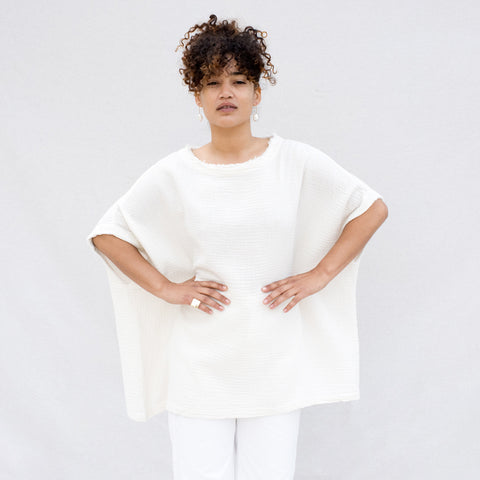 Double Gauze Top - Cream