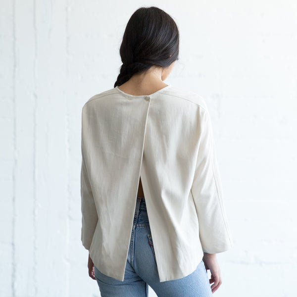 Open Back Top - Cream