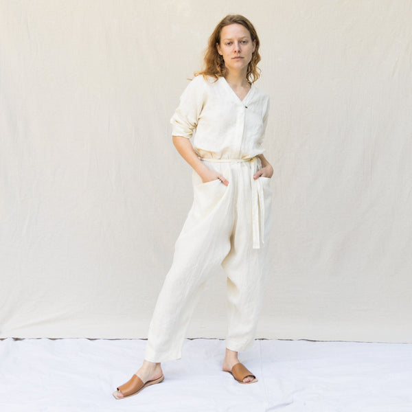 Painter Jumpsuit - Cream