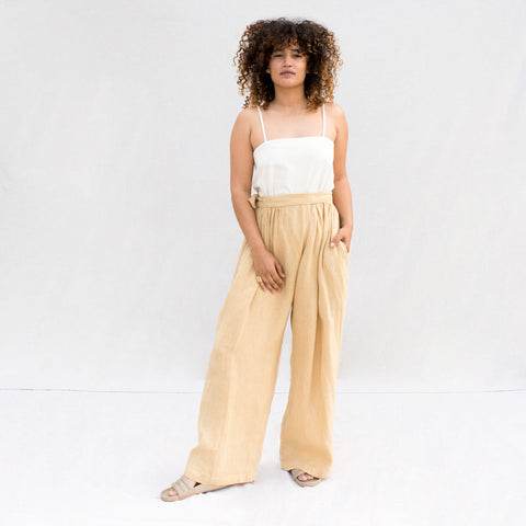 Sack Pants - Tan