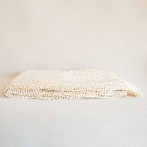 Open Weave Cotton Throw
