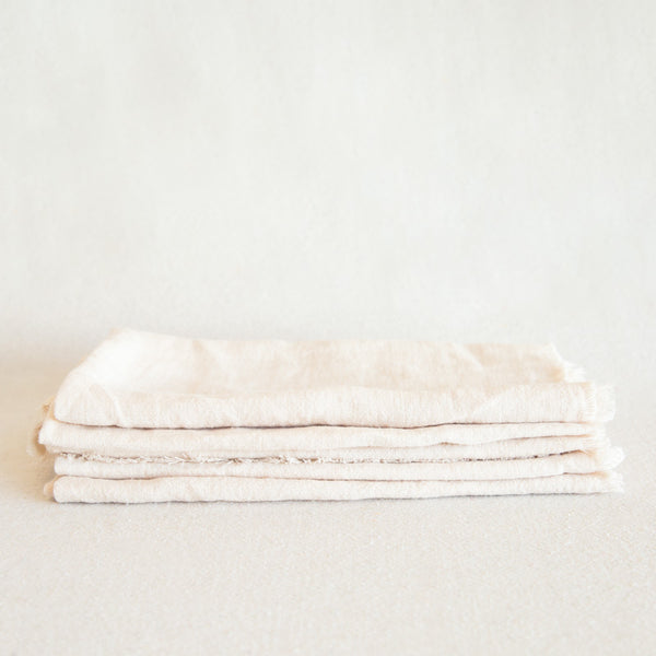 Stone Washed Linen Napkin - White