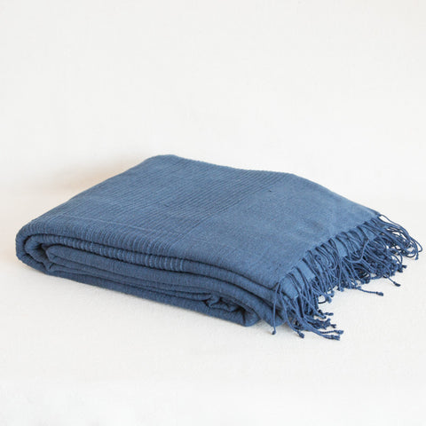 Cotton Blanket - Navy