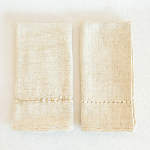 Natural Pulled Napkins - Rattan