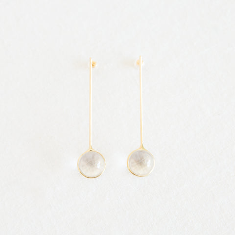 46 degree Drop Earrings - Quartz