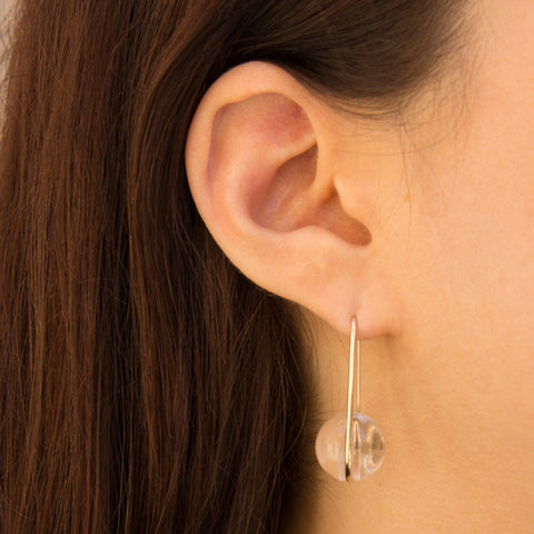 Orbital Drop Earrings - Quartz