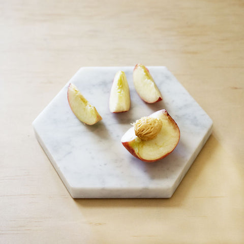 Hexagon Marble Trivet