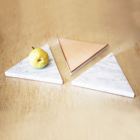Triangle Marble Trivet