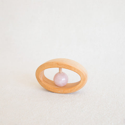 Rose Quartz Rattle