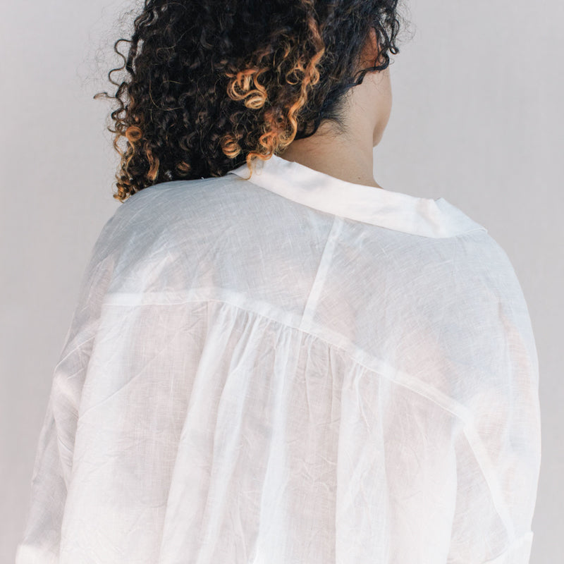 Linen Washer Shirt - White
