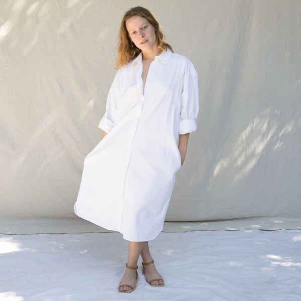 Ulu Shirt Dress - Salt White