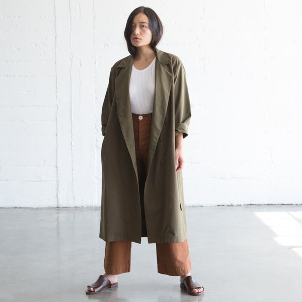 Trench Coat - Olive Brown