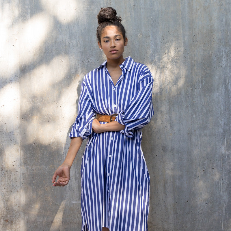 Ulu Shirt Dress - Bold Stripe