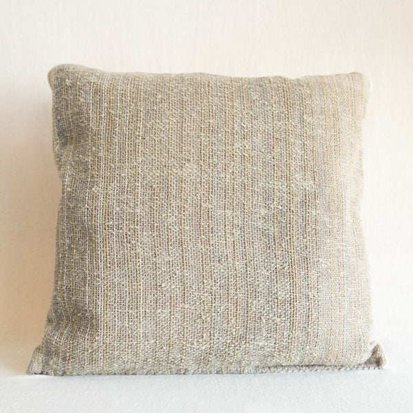 Handwoven Flax Pillow - Plain