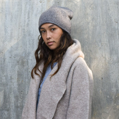 Crown Beanie - Grey Melange