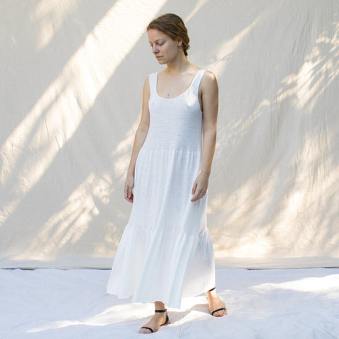 Tier Dress - Optic White
