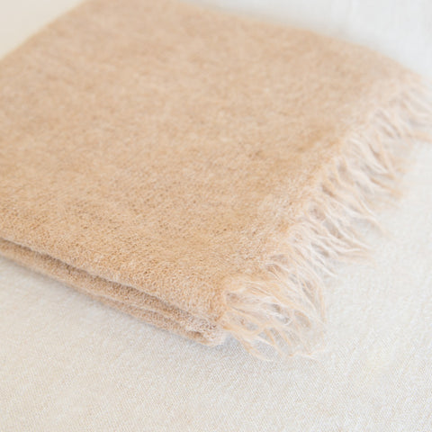 Fringe Scarf - Light Camel
