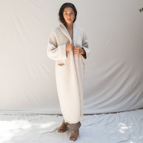 Long Shawl Cardigan - Hessian