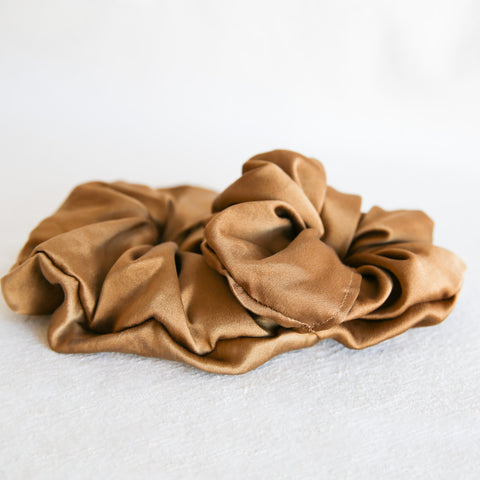 Naturally Dyed Scrunchie - Brown