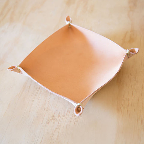 Four Corners Leather Tray