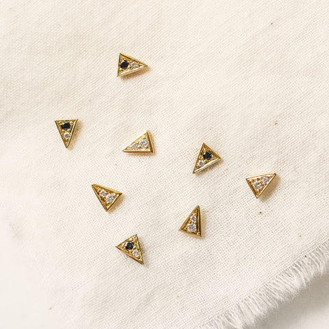 Diamond Triangle Stud