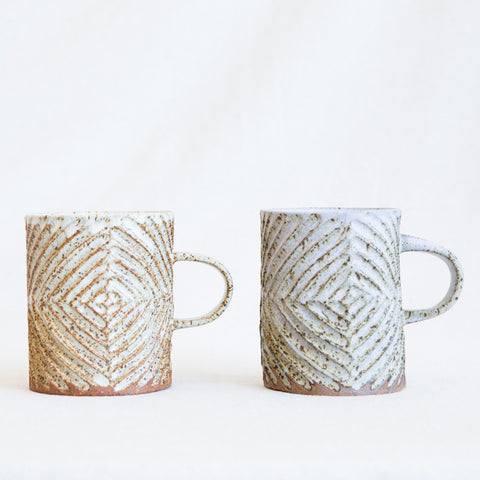 Carved Diamond Mug