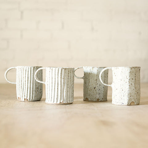 Carved Mug - White Speckle