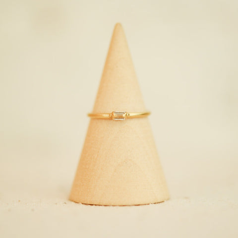 Caged Diamond Ring