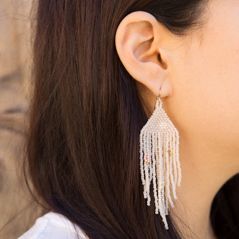 Rosewater Beaded Earrings