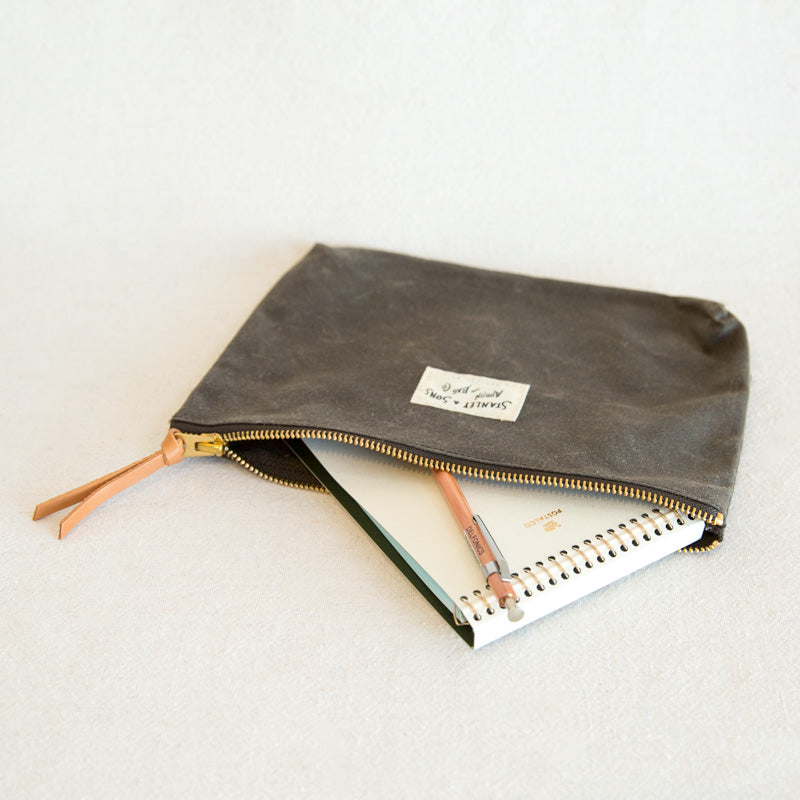 Waxed Canvas Pouch