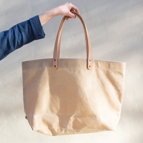 Waxed Canvas Tote - Natural