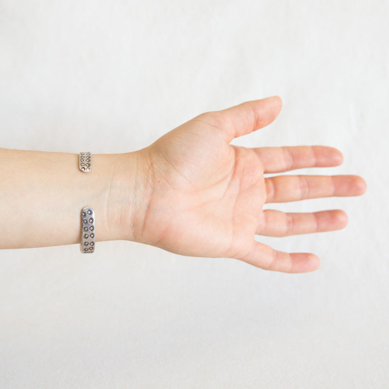 Stamped Sterling Silver Cuff