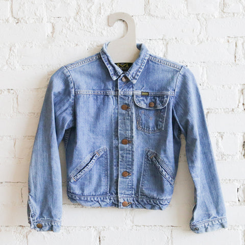 Kids Vintage Denim Jacket - Maverick
