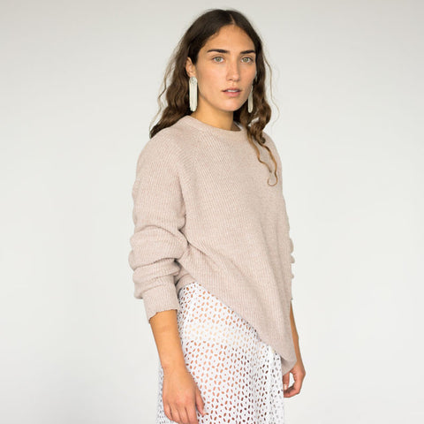 Mauve Ribbed Sweater