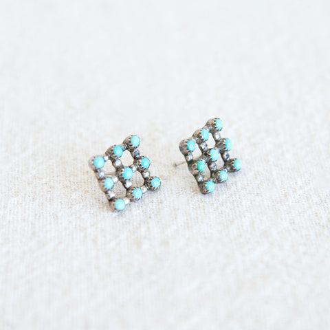Snake Eyes Grid Earrings
