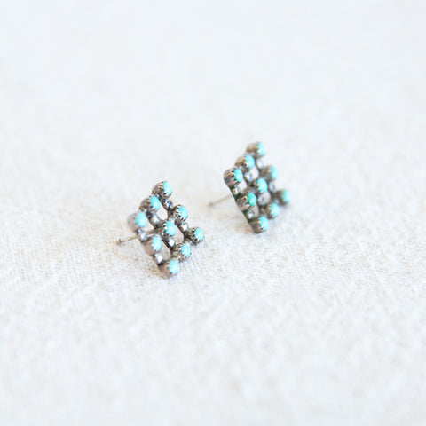 Snake Eye Grid Earrings