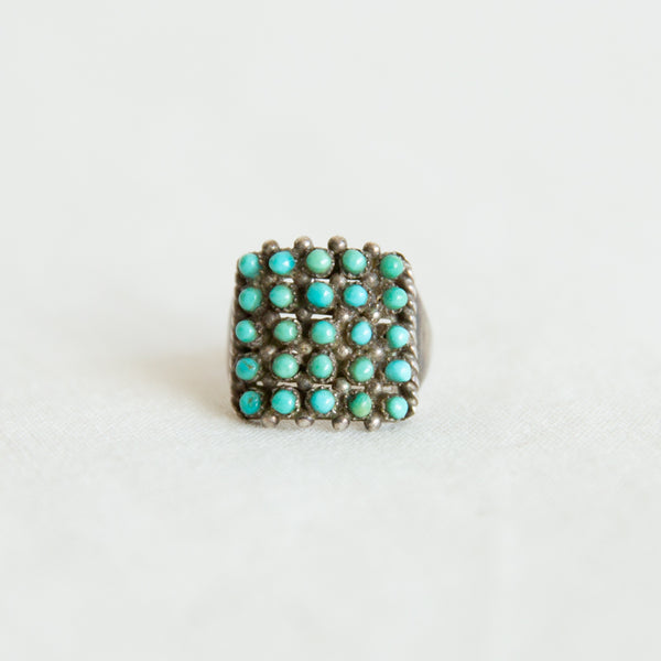 Square Snake Eyes Ring