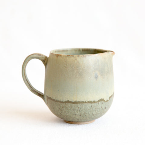 Studio Pottery Pitcher - green matte