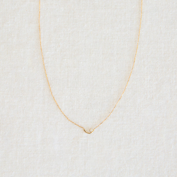 Arc Lineage Necklace - White Diamond