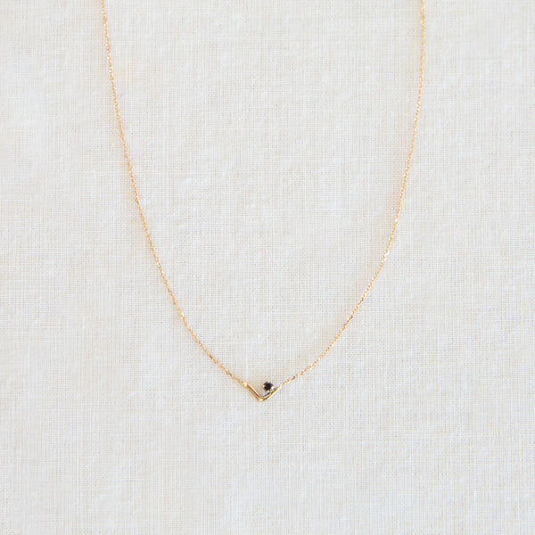 Triangle Lineage Necklace - Black Diamond