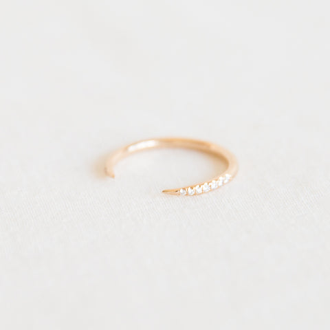 Open Slice Ring - Micropavé