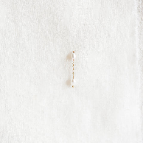 Short Pearl Shower Earring
