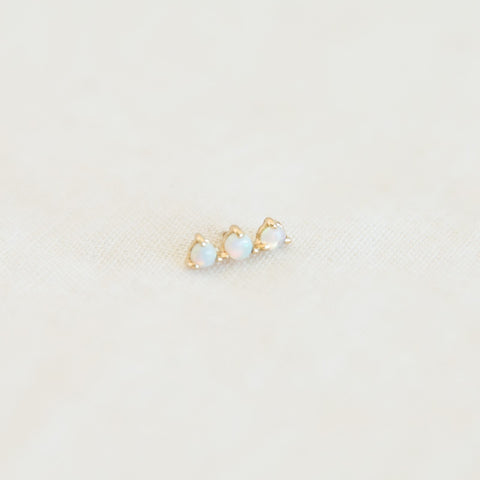 Three Step Earring -  Opal